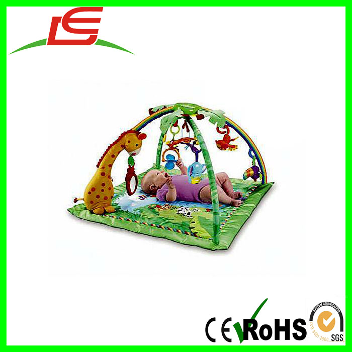 high quality soft plush baby activity gym