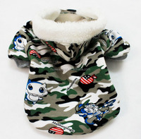 Wholesale new-style pet dogs clothes ,warm dogs camo hoodies for Autumn/Winter season ,thicken camo sweatshirt for pets dogs