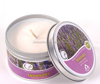 High quality printed tin scented soy candles for European and American Market