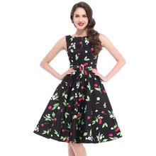 JS 23 Hepburn Floral Prints Lady Anarkali Cotton Tops Design Dress Women 006