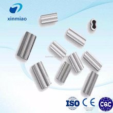 China made crimp special types aluminum sleeves for wire rope riggings
