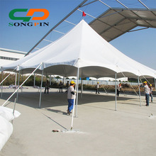 pyramid wedding stretch tent hall with fire retardant fabric and ceiling decoration for 200 party