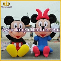 Hot Sale Cheap Inflatable Mickey & Minnie Cartoon Character