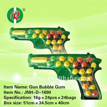 Gun Bubble Gum / fruity / toy bubble gum for children