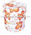 round shape bucket fold up home laundry basket/pop up can shape cloth bucket stackable storage bin