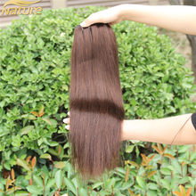 7A Grade Virgin Brazilian Human Hair Clip in Hair Extensions Solid Color Black Wine Human Hair