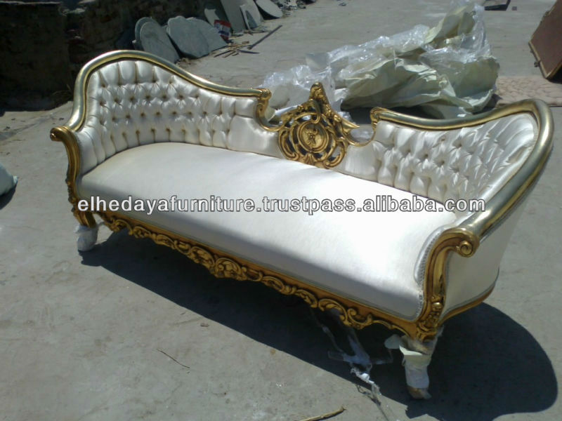 White wedding sofa
