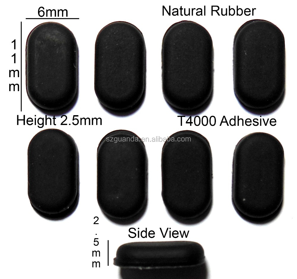Textured round surface Bumpon transparent textured round surface rubber bumper feet self adhesive backing rubber feet