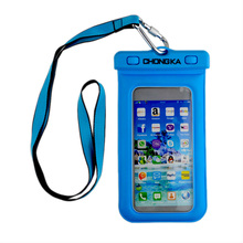 plastic waterproof shower mobile phone bag