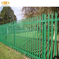 powder coated steel palisade fencing ,nature steel palisade fencing ,iron steel palisade fencing