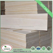 cheap price good paulownia triangle chamfer solid strip wooden battens