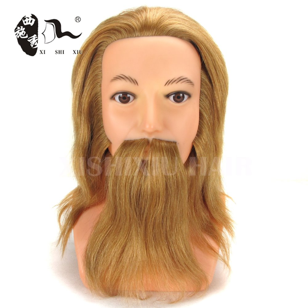 beauty school mannequin heads male natural hair training head