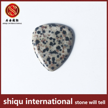 New product small MOQ lowest price natural semi precious stone custom guitar picks