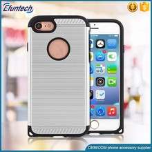 Popular hybrid plastic brush finish cell phone case for iphone 7 7 plus cover
