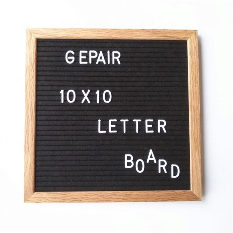 Vintage Felt Changeable Letter Board In 10 <strong>X10</strong> Inches With Helvetica White Letters