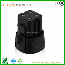CLEVA 1500mah NI-MH High Real Capacity for Dremel 5000755-01 4.8V MiniMite Replacement Battery Pack