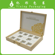 PU leather wrapped custom small products packaging box made of MDF