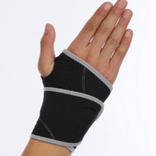 Black or customized palm support wrist sleeve