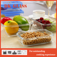 Delicious microwaveable food by glass food container /large volume storage for every one
