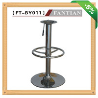 Hot Selling metal chrome iron adjustable outdoor bar stool parts manufacturer 011