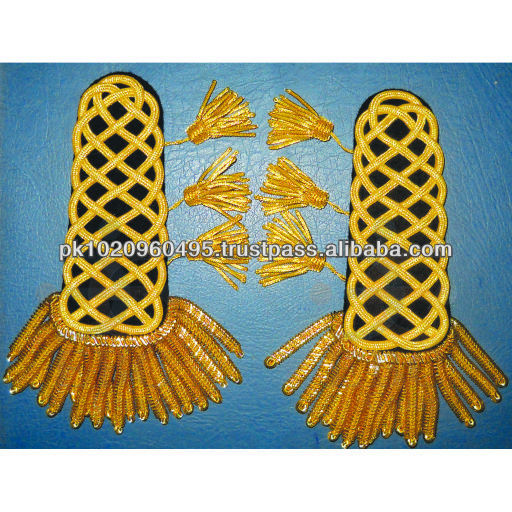 Gold Corded Uniform Shoulder Board with bullion tassels | Shoulder Boards | Shoulder Ranks