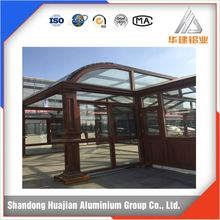 Aluminum frame profile sun glass room