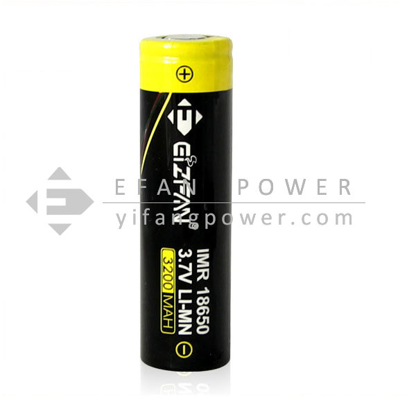 Efan IMR 18650 35A 3200mah 3.7v high amp battery flat top