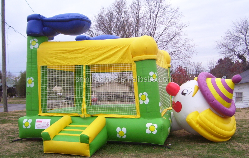 inflatable jumping bouncer/inflatable Moonwalk Clown Bounce House Belly