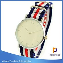 Modern new arrival nylon strap cheap gifts lovers watch
