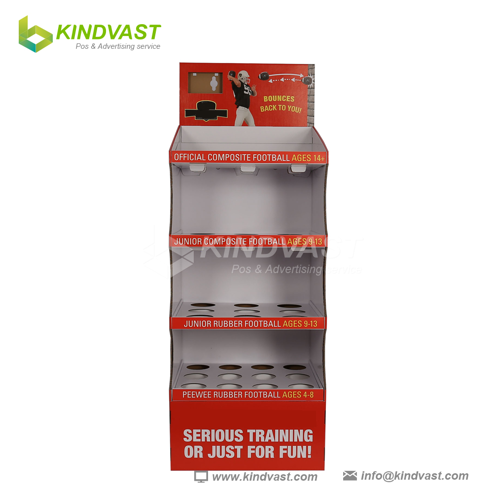 Rugby football display stand rugby ball football display box for shop