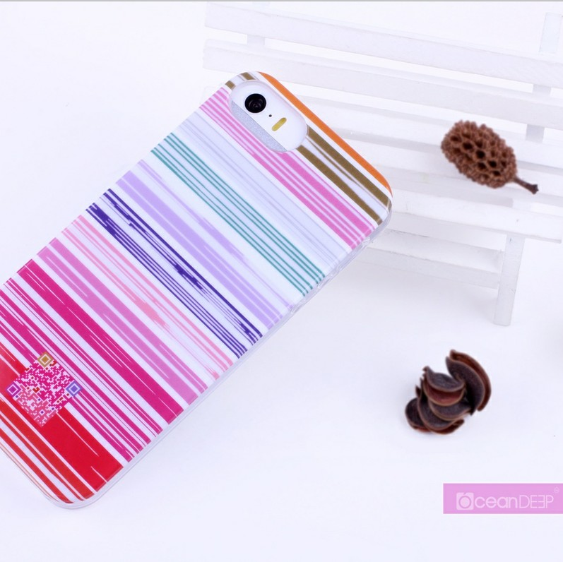 Colotful stripes trendy IMD case for iphonr 5s glossy case new designs in mobile phone accessories