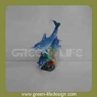 Polyresin gift item home decoration dolphin