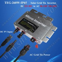 260W IP65 grid tie micro inverter, mppt solar inverter with power line communication module