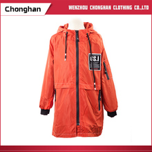 Chonghan China Manufactuters Cheap Orange Warm Hooded Coats For Women