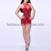 Lace Cheongsam Halter Dress Red Sex Lace Dress