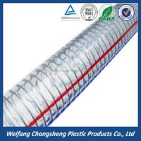 Hydraulic High Pressure Industrial Spiral Steel Wire Reinforced Flexible 6 inch PVC Drain Pipe