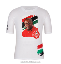 Election campaign photo printing 100%cotton t shirts for 1 dollar