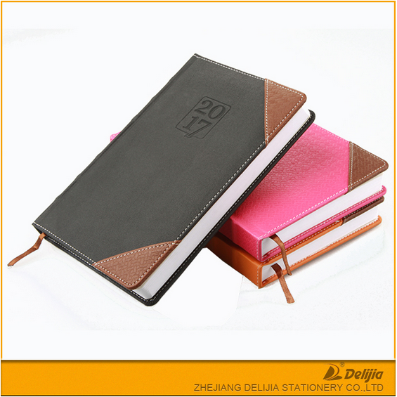 PU leather office personal wholesale 2017 diary