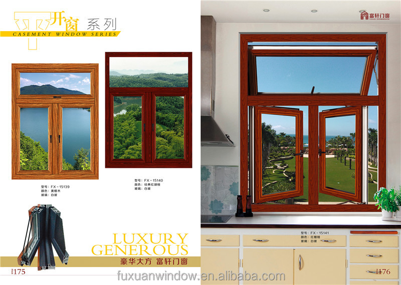 2016 new style cheap house fixed arch top double glazing casement window
