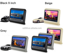 Hot sale lcd headrest 9'' <strong>car</strong>/taxi digital advertising screen for sale