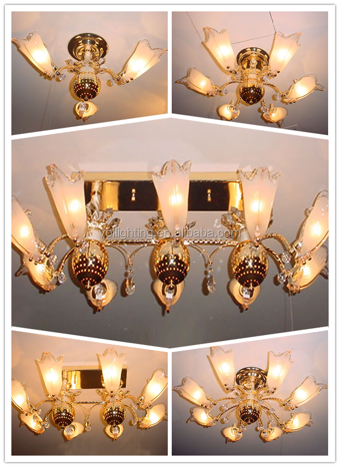 Popular in Middle east luxury gold home lighting chandelier & ceiling fixtures