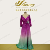 Special gradient color backless rainbo cheap indo western dresses for india market