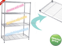 bulky goods Storage Rack easy assemblely adjustable chrome wire shelving