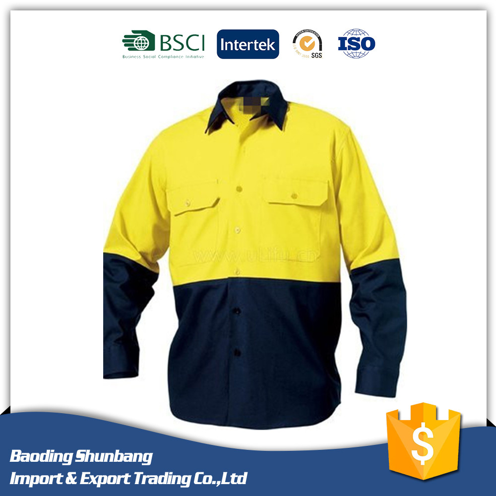 Long Sleeve Antistatic Working Security Shirt