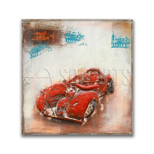 3D Cool Acrylic Sports Car Painting on Iron