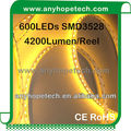 UL Listed 3000K 24V 3528 120 LED Per Meter CRI 90 Cuttable every 50mm Economical LED Tape Lighting