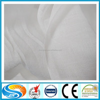 Polyester spun sheer voile white voile fabric for curtain from china