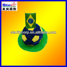 2014 World Cup crazy Brazil football fan cap and hat ST-H1251-9