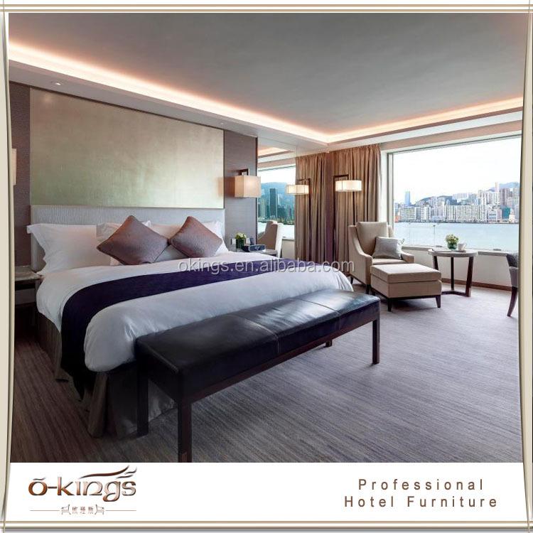International design king size hotel guest room furniture for International hotel design