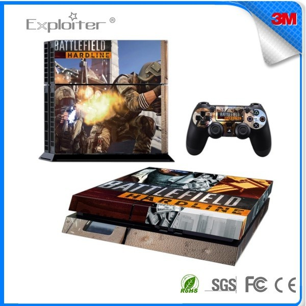 Customized new coming decal skin replacement console skin for ps4